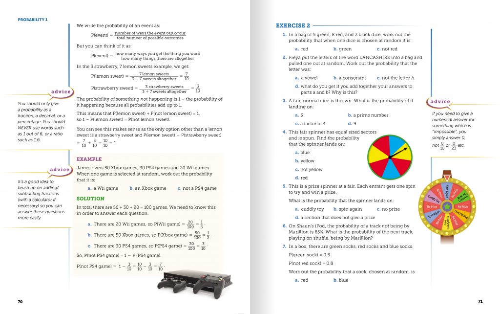 GCSE Statistics textbook spread